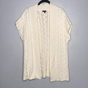 Talbots Short Sleeve Open Front Cardigan Tunic